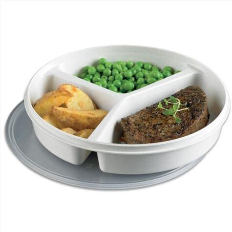 Assiette 3 compartiments avec couvercle
