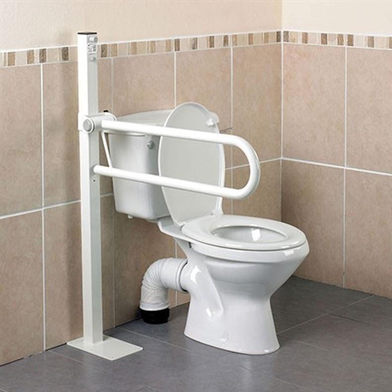 Barre d'appui pour toilettes Devon - Fixation sol – Courte