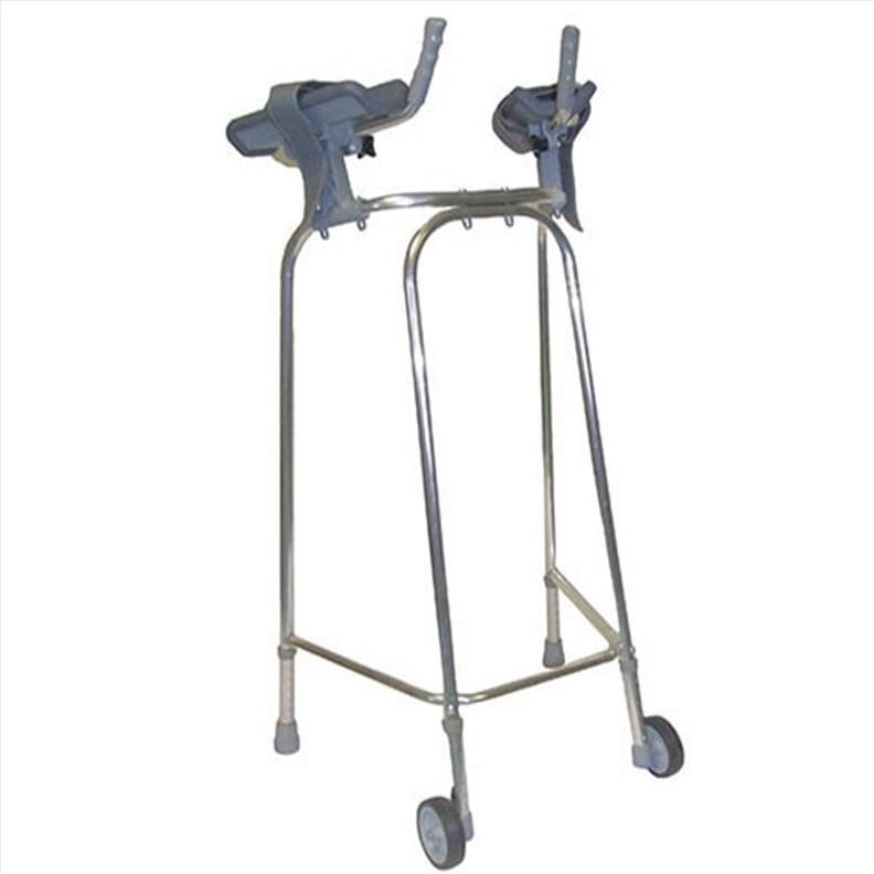Cadre de marche 2 roues avec supports d'avant-bras