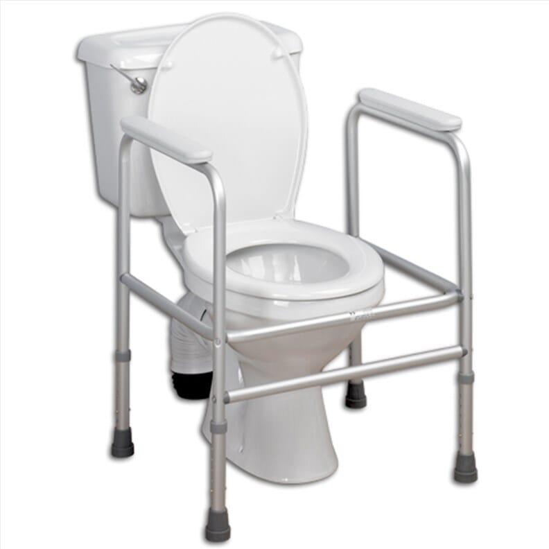 Cadre de toilette ajustable en aluminium