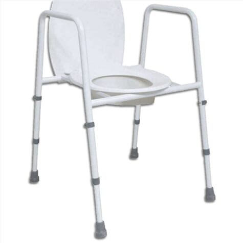 Cadre de toilettes avec siège – Hauteur ajustable