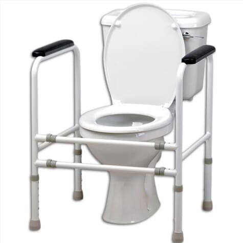 Cadre de toilettes entièrement ajustable