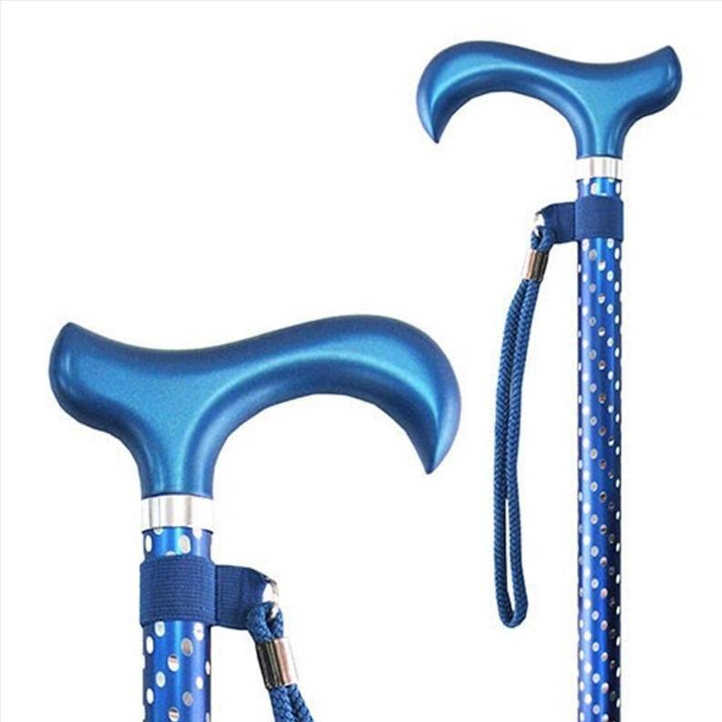 Canne ajustable – Spotty - Bleu