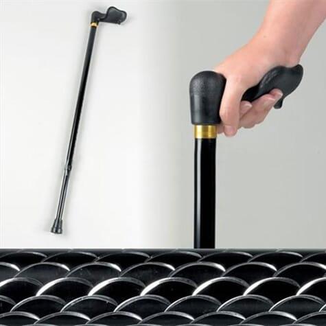 Canne de marche - noir imprimé Comfy Grip