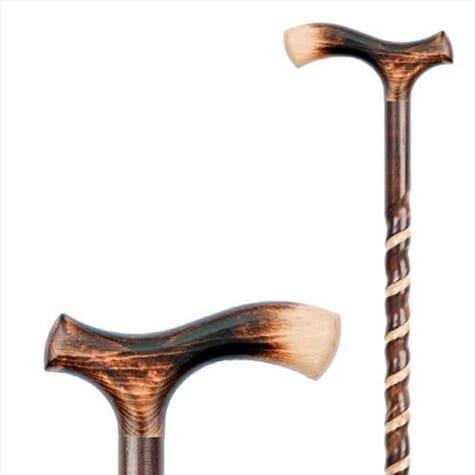 Canne décorative en bois