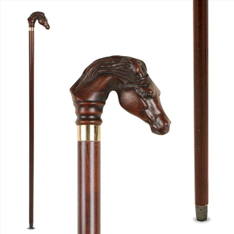 Canne décorative - pommeau cheval