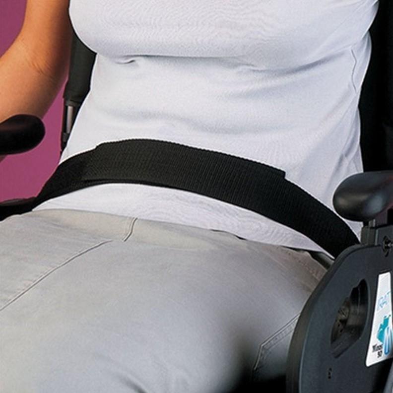 Ceinture de sécurité pour fauteuil roulant en velcro