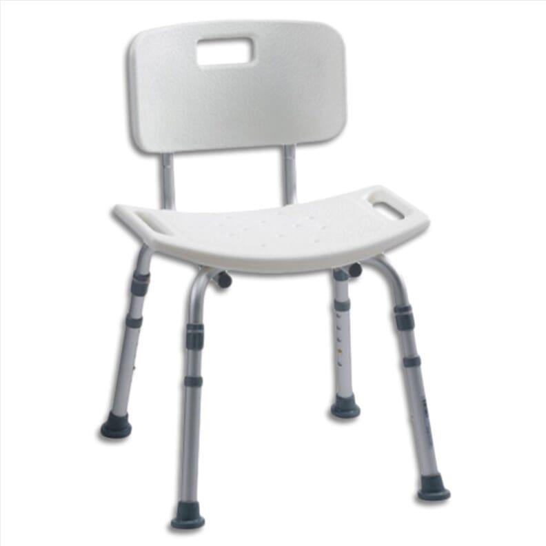 Chaise de douche en aluminium