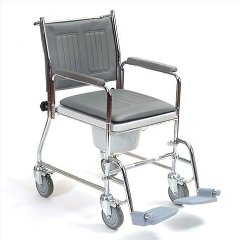 Chaise percée avec accoudoirs amovibles