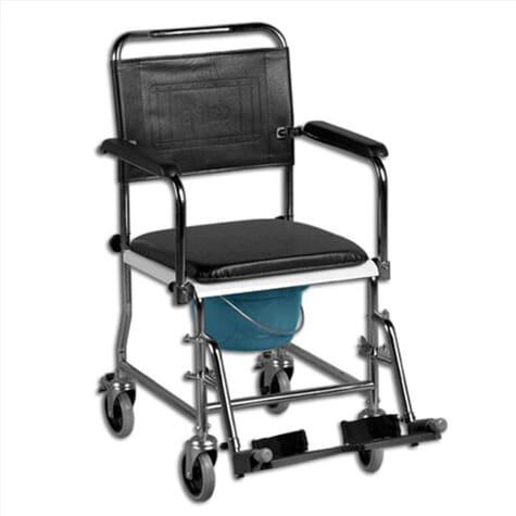 Chaise percée avec des accoudoirs amovibles