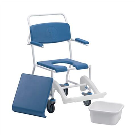 Chaise percée de douche sur roues