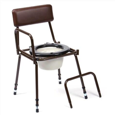 Chaise percée Dovedale réglable avec accoudoirs détachables