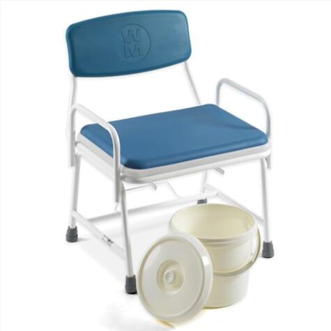 Chaise percée pour personnes en surpoids