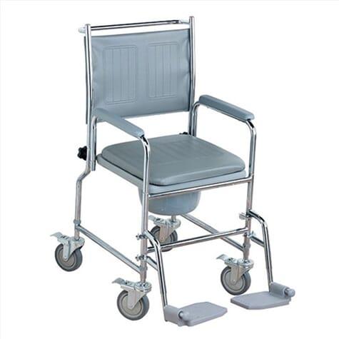 Chaise percée réglable avec roues