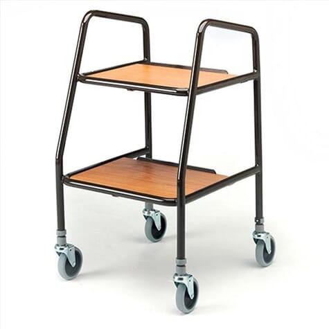 Chariot de cuisine - étagères en bois