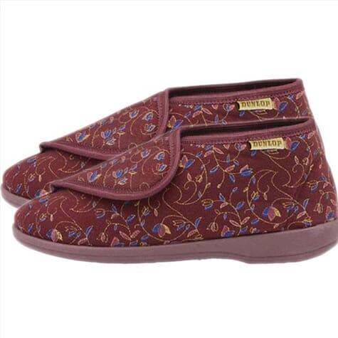 Chaussons montants pour femme - Dunlop - bordeaux - 36