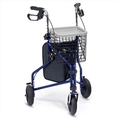 Déambulateur 3 roues pliable - Bleu