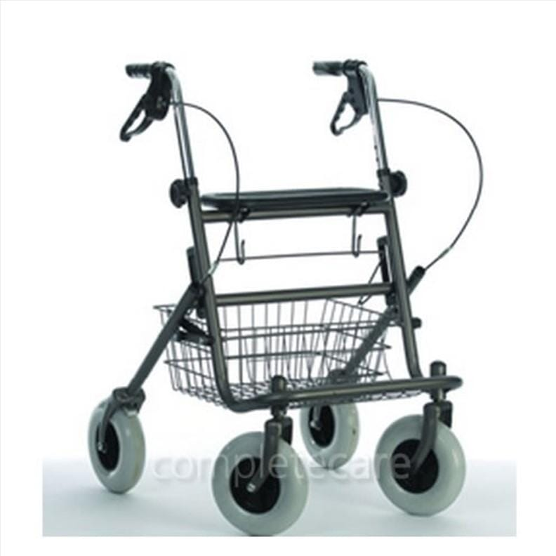 Déambulateur 4 roues avec siège et panier