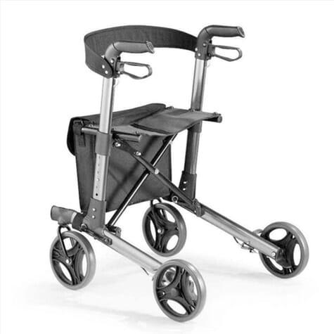 Déambulateur 4 roues compact et pliable