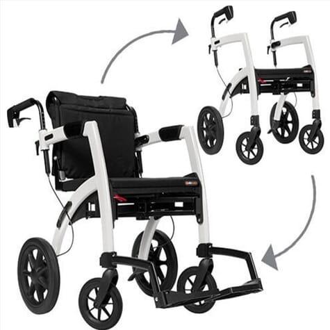 Rollz Motion - rollator et chaise roulante - Gris