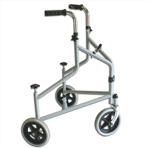 Déambulateur trois roues avec freins