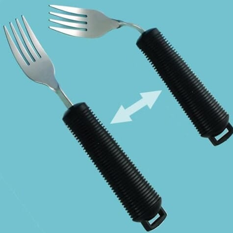 Fourchette pliable