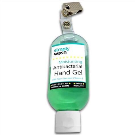 Gel antibactérien pour les mains – bouteille 50 ml avec clip
