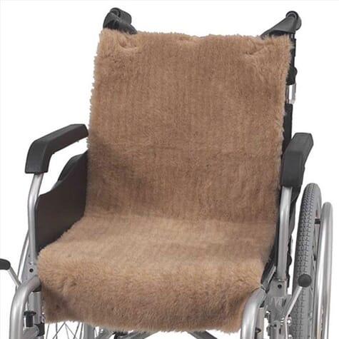 Housse d'assise en polaire pour fauteuil roulant