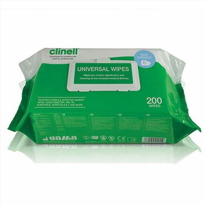Lingettes antibactériennes Clinell