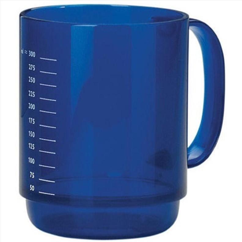 Mug bleu avec grande anse