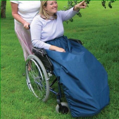 Protège-jambes Cosy pour fauteuil roulant - Bleu