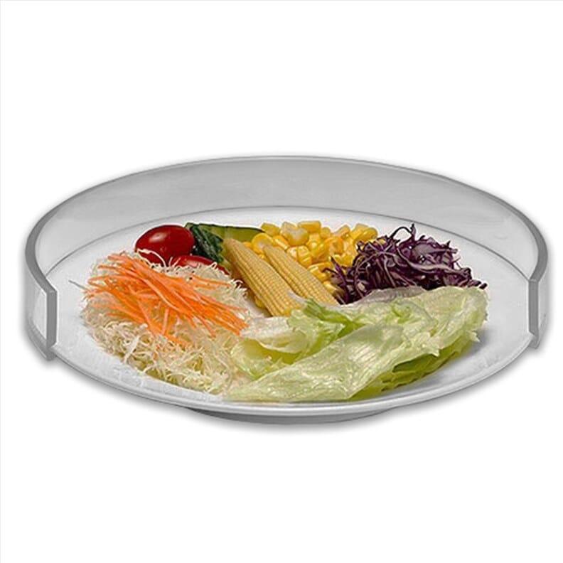 Rebord d'assiette transparent