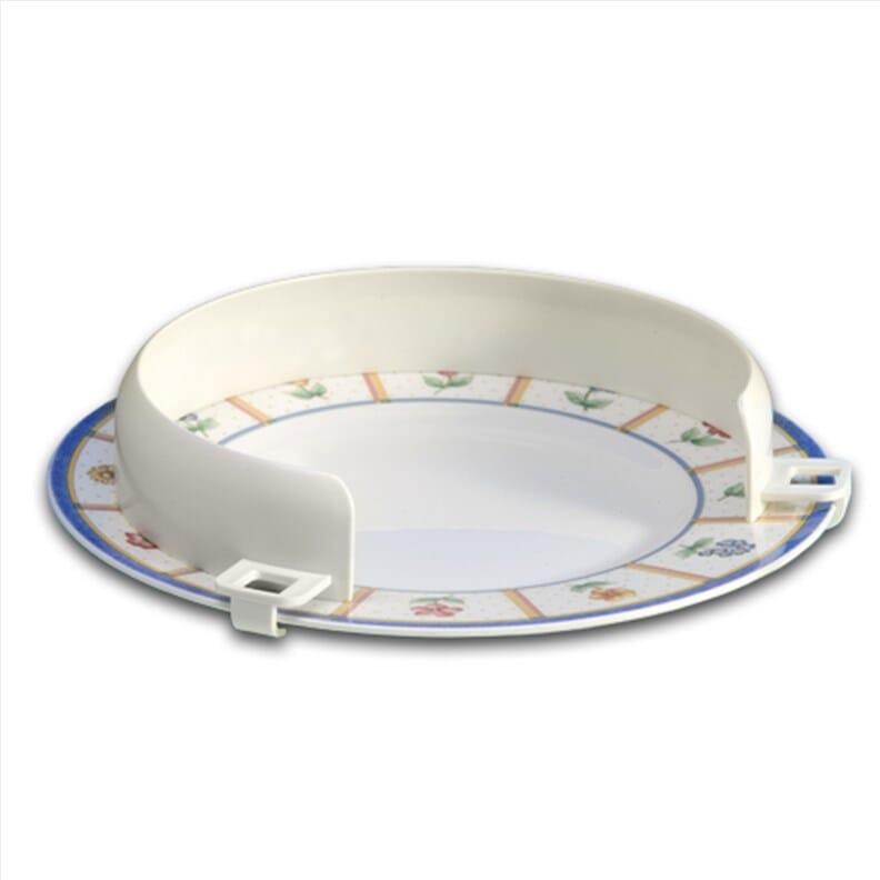 Rebord d'assiette en plastique