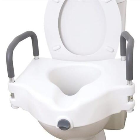 Rehausseur de toilettes avec accoudoirs amovibles