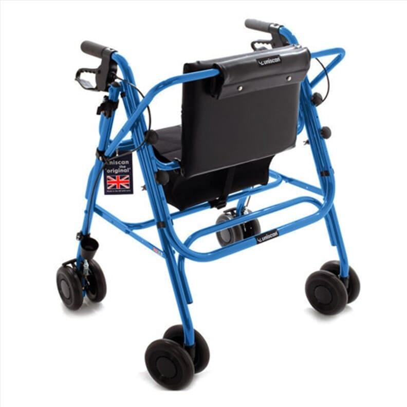 Rollator bariatrique pliable - Grand Glider Plus (Uniscan) - Bleu