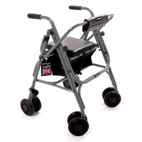 Rollator pliable avec siège