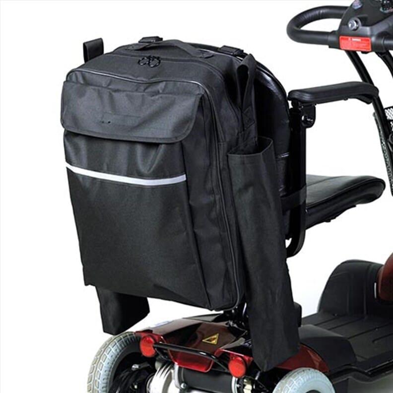 Sac pour fauteuil roulant avec pochette pour béquille